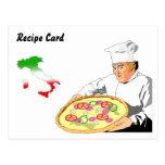 Recipe Cards Gift Set Italian Pizza Post Card