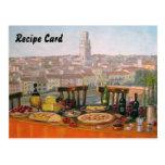 Recipe Cards Italian Fine Art Post Cards
