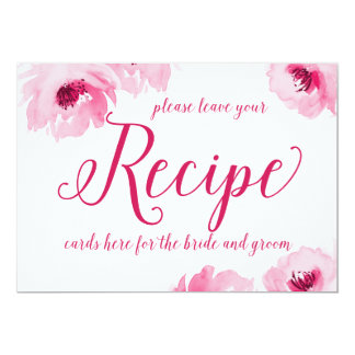 Recipe Cards Sign Print