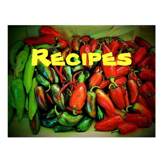 Recipe (Chilies) Postcard