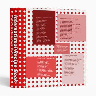 Recipe Conversion Red 3 Ring Binder