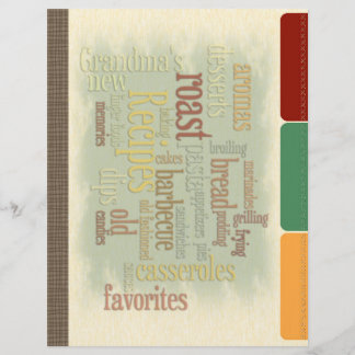 Recipe Divider Pages for Recipe Binder