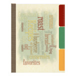 Recipe Divider Pages for Recipe Binder<br><div class='desc'>Designed to compliment the Recipes 2 Album (https://www.zazzle.com/recipes_2_album_1_5_binder-127897679919372593), this divider page is a full-page sheet sporting the same wordage of the matching binder. The divider pages has &quot;built-in&quot; tabs to add your own categories or to write in your own sentiments. With a matching color scheme to match the binder, these...</div>