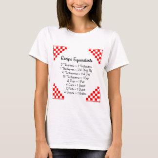Recipe Equivalents Kitchen Helper  T-shirt