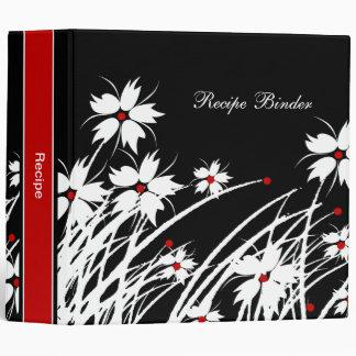Recipe Floral Red Black White DECOR SETS Binder
