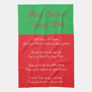 Recipe for a Merry Christmas 2014 Kitchen Towel