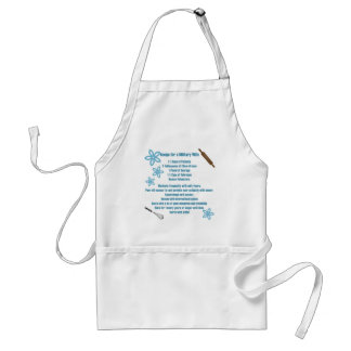 Recipe for a Military Wife Adult Apron