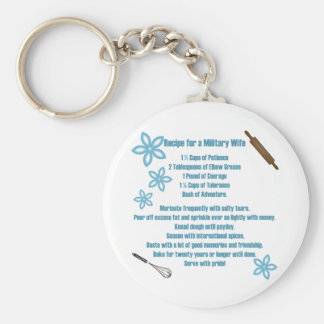 Recipe For A Military Wife Keychains