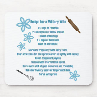 Recipe For A Military Wife Mouse Pad
