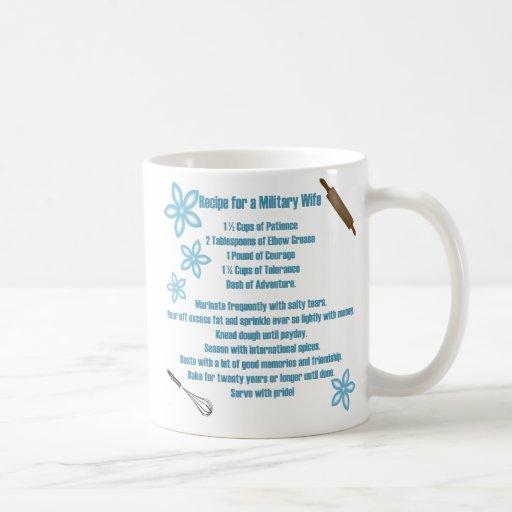 Recipe For A Military Wife Classic White Coffee Mug