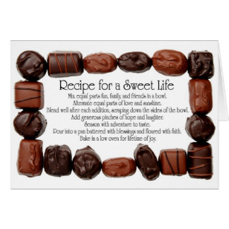 Recipe for a Sweet Life Candy Frame Cards
