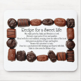 Recipe for a Sweet Life Candy Frame Mouse Pad