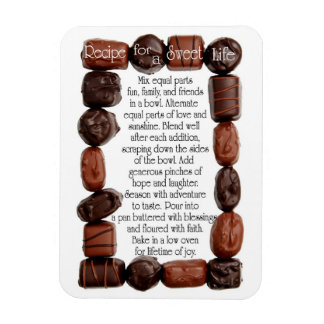 Recipe for a Sweet Life Candy Frame Rectangular Magnets