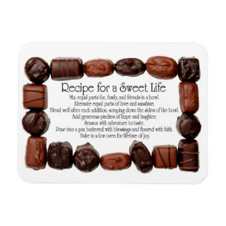 Recipe for a Sweet Life Candy Frame Vinyl Magnet