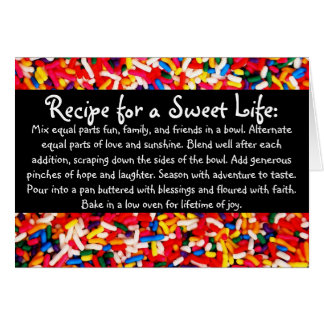 Recipe for a Sweet Life Card
