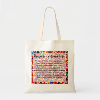 Recipe for a Sweet Life Totebag Budget Tote Bag