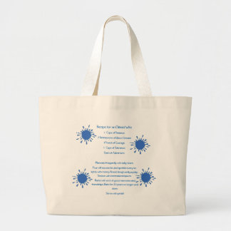 Recipe for an Oilfield Wife Large Tote Bag