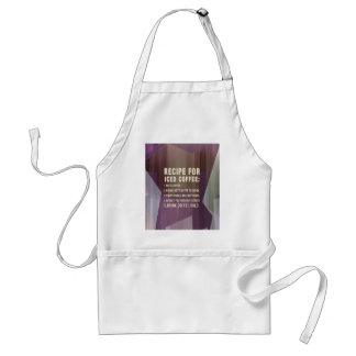 Recipe for Cold Coffee Adult Apron