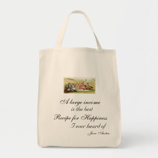 Recipe for Happiness Grocery Tote