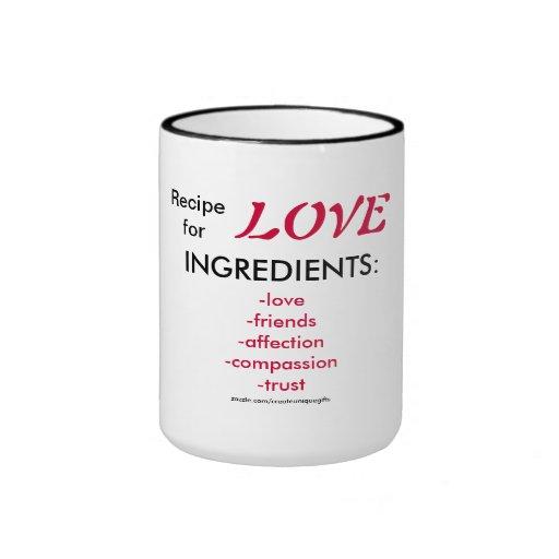 Recipe for love Coffee Mug