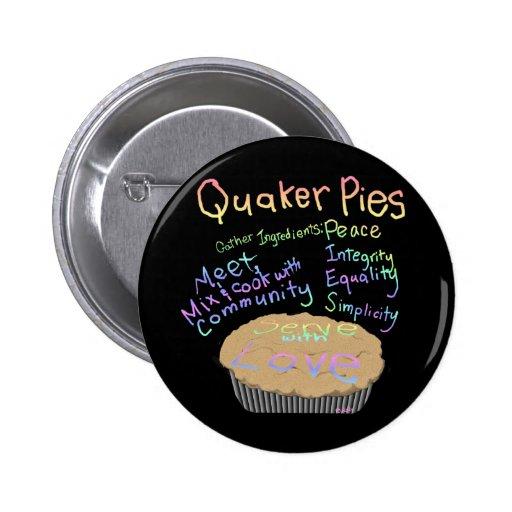 Recipe for Quaker Pies 2 Inch Round Button