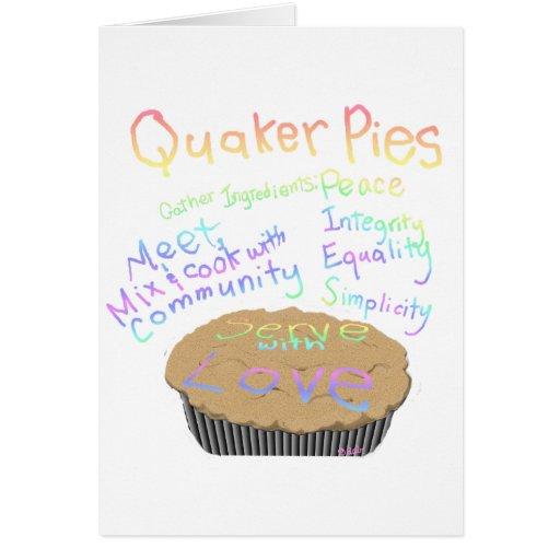Recipe for Quaker Pies Greeting Card