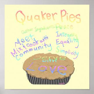 Recipe for Quaker Pies Poster