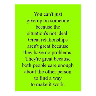 RECIPE FOR SUCCESSFUL RELATIONSHIPS QUOTE EXPRESSI POSTCARD