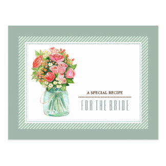 Recipe for the Bride. Bridal Shower Custom Cards
