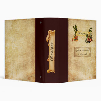 Recipe-from warm ovens to warm hearts 3 ring binder