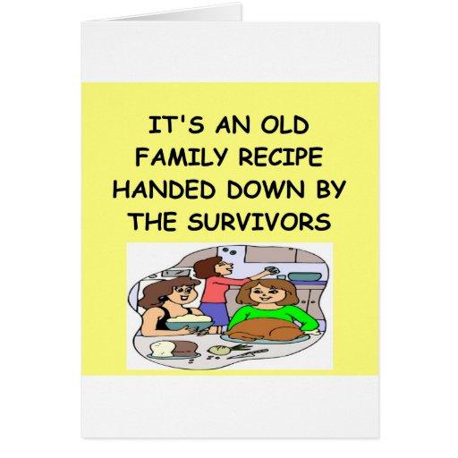 RECIPE GREETING CARD
