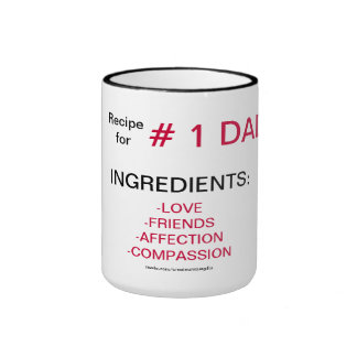 Recipe Ingredients For # 1 Dad Coffee Mug