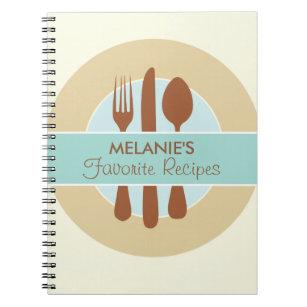 Recipe Journal, blue Notebook