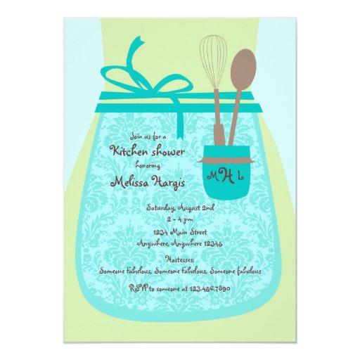 Recipe Kitchen Bridal Shower Invitation Zazzle