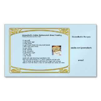 Recipe Magnet Business Cards