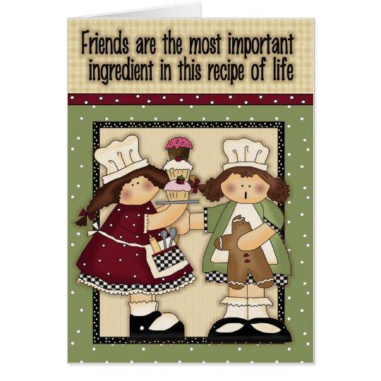 Recipe of life greeting card