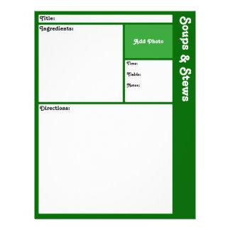 Recipe Page (Dark Green) Full Color Flyer