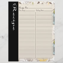 Recipe Page for Blue Rose Recipe Binder - 4