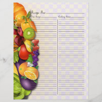 Recipe Page for Fruits & Veges Recipe Binder - 2