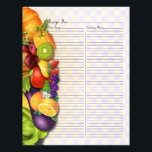 "Recipe Page for Fruits &amp; Veges Recipe Binder - 2<br><div class=""desc""></div>"