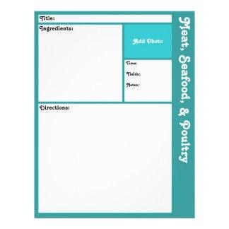 Recipe Pages (Aqua) Flyer