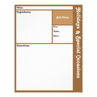 Recipe Pages (Brown)