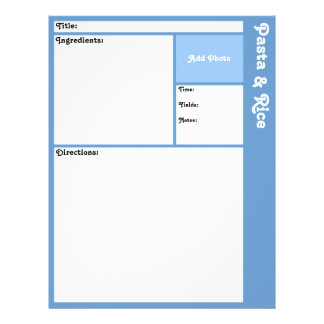 Recipe Pages (Light Blue) Flyer