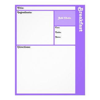Recipe Pages (Light Violet)