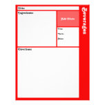 Recipe Pages (Red)