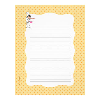 Recipe Pages with Decorative Boder Letterhead