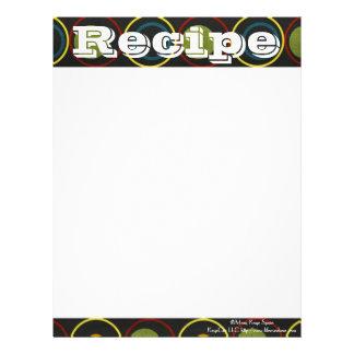 Recipe Paper- Chic Mod- Recipes Letterhead
