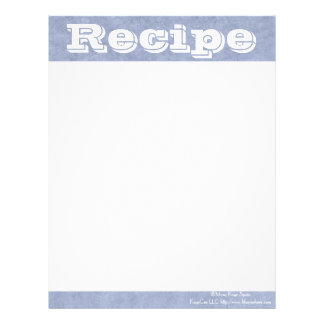 Recipe Paper- Moody Blues- Notes Letterhead