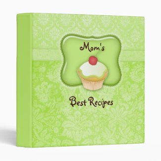 Recipe Photo Binder Green Cupcake