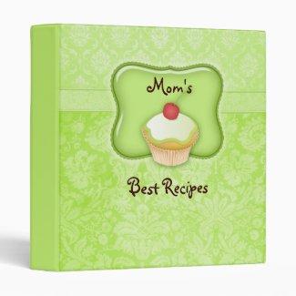 Recipe Photo Binder Green Cupcake